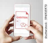 faq frequently asked questions... | Shutterstock . vector #596935970