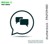 chat flat icon with shadow.... | Shutterstock .eps vector #596939480