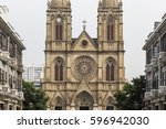 Sacred Heart Gothic Cathedral in Guangzhou, China.