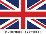 flag of the united kingdom | Shutterstock .eps vector #596945564