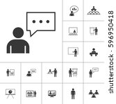 business presentation icon set... | Shutterstock .eps vector #596950418