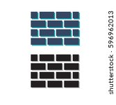 brick wall icon  for website...