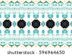 colorful horizontal pattern for ... | Shutterstock . vector #596964650