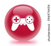 video game controller icon.... | Shutterstock . vector #596974454