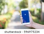 chiang mai  thailand   feb 12... | Shutterstock . vector #596975234
