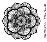 mandalas for coloring book.... | Shutterstock .eps vector #596976260