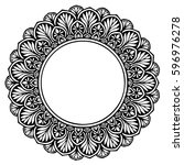 mandalas for coloring book.... | Shutterstock .eps vector #596976278