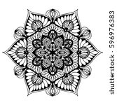 mandalas for coloring book.... | Shutterstock .eps vector #596976383
