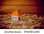 model house with your deposit... | Shutterstock . vector #596981300