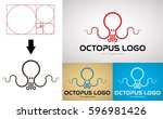 octopus logo design for... | Shutterstock .eps vector #596981426