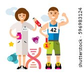 vector doping and sport concept.... | Shutterstock .eps vector #596983124