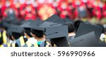 back of graduates during... | Shutterstock . vector #596990966