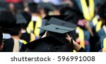 back of graduates during... | Shutterstock . vector #596991008
