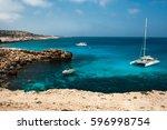 holiday at the mediterranean...   Shutterstock . vector #596998754