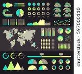 world map infographic. vector... | Shutterstock .eps vector #597000110