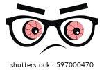 red eyeball  vector icon | Shutterstock .eps vector #597000470