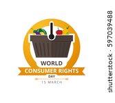 world consumer rights day 15...   Shutterstock .eps vector #597039488