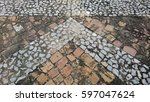background from the brick on... | Shutterstock . vector #597047624