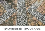 background from the brick on... | Shutterstock . vector #597047708