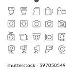 camera ui pixel perfect well... | Shutterstock .eps vector #597050549