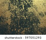 gold grunge texture with... | Shutterstock .eps vector #597051293