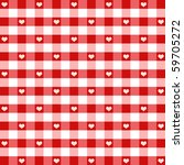 hearts and gingham seamless... | Shutterstock .eps vector #59705272