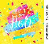 flyer  banner  card or pamphlet ...   Shutterstock .eps vector #597054188