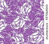 roses.seamless background.... | Shutterstock . vector #597064043