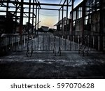some place be left neglected... | Shutterstock . vector #597070628