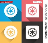 star wars icon. button with...