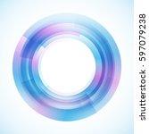 geometric frame  vector...   Shutterstock .eps vector #597079238