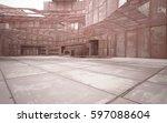 empty abstract room interior of ... | Shutterstock . vector #597088604