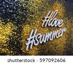 summer love concept background. ...   Shutterstock . vector #597092606