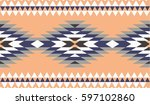 vector seamless decorative... | Shutterstock .eps vector #597102860