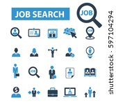 job search icons | Shutterstock .eps vector #597104294