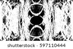 grunge black and white urban... | Shutterstock .eps vector #597110444