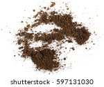 pile of soil isolated on white... | Shutterstock . vector #597131030