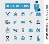 doctor icons  | Shutterstock .eps vector #597136406