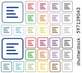 text align left color flat... | Shutterstock .eps vector #597139043