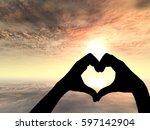 concept or conceptual heart... | Shutterstock . vector #597142904