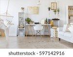 creative design of spacious... | Shutterstock . vector #597142916