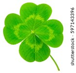 st. patrick's day symbol. lucky ... | Shutterstock . vector #597143396