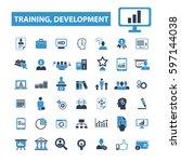 training development icons | Shutterstock .eps vector #597144038