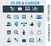 human resources  career icons | Shutterstock .eps vector #597144200