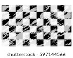 race flag  checkered flag... | Shutterstock .eps vector #597144566