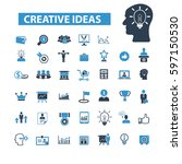 creative ideas icons  | Shutterstock .eps vector #597150530