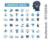 creative ideas icons  | Shutterstock .eps vector #597150530