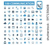 communication icons | Shutterstock .eps vector #597150608