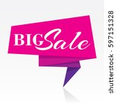 sale banner design   Shutterstock .eps vector #597151328