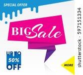 sale banner template design....   Shutterstock .eps vector #597151334